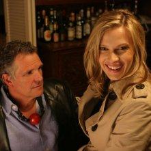 Christopher Allport e Vinessa Shaw sul set del film Garden Party