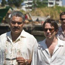 Joaquin Cosio, Mathieu Amalric e Anatole Taubman in una scena di Quantum of Solace