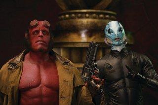 Ron Perlman (Hellboy) e Doug Jones (Abe) in una scena di Hellboy 2