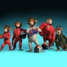 Un'immagine promozionale del film Space Chimps