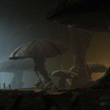 Una scena dell'avventuroso Journey to the Center of the Earth 3D