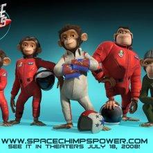 Wallpaper del film Space Chimps