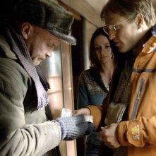 Emily Mortimer e Woody Harrelson in una scena del film Transsiberian