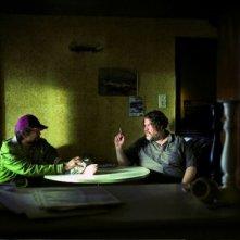 Fabrice Adde e Bouli Lanners in una scena del film Eldorado Road
