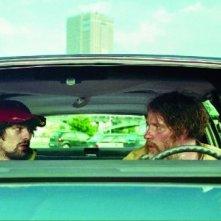 Fabrice Adde e Bouli Lanners in una scena di Eldorado Road