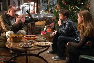 Il regista David Yates, Daniel Radcliffe ed Emma Watson sul set di Harry Potter e il principe mezzosangue