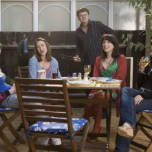 Sally Hawkins e i suoi amici in una scena di Happy Go-Lucky