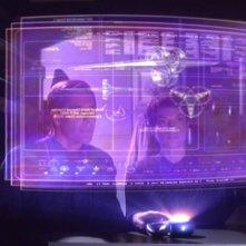 Scott Bakula insieme a Jolene Blalock nell'episodio 'Il mistero della navetta', della serie 'Enterprise'
