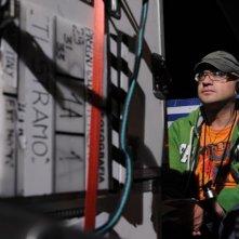 Il regista Gianluca Sodaro sul set di Ti stramo