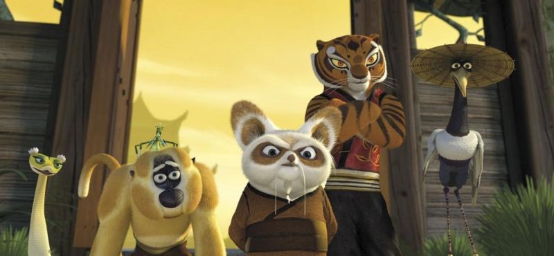 Una Scena Di Gruppo Coi Protagonisti Del Film Kung Fu Panda 81682