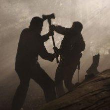 Battaglia di ombre in una scena del film The Tripper