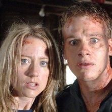 Danielle Mason e Nathan Meister in una scena dell'horror Black Sheep