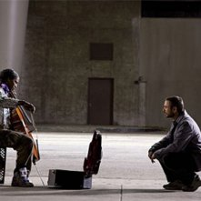 Jamie Foxx e Robert Downey Jr. in una scena del film The Soloist