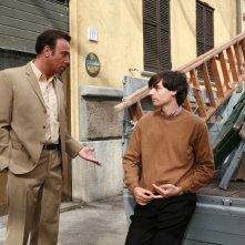 Massimo Ghini ed Edoardo Natoli  in una scena della seconda stagione di 'Raccontami'