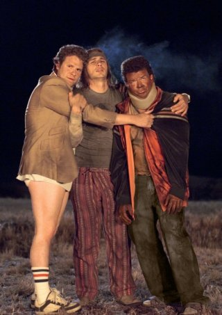 Seth Rogen, James Franco e Danny McBride in una scena del film Pineapple Express