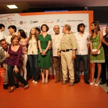 Il cast di Raccontami sull'orange carpet del Roma Fiction Fest 2008