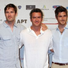 Luke MacFarlane, Balthazar Getty e Dave Annable al Roma Fiction Fest 2008 per presentare la serie tv Brothers & Sisters