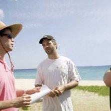 Judd Apatow, Nicholas Stoller e Jason Segel sul set di Forgetting Sarah Marshall