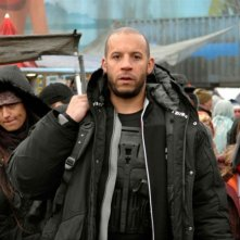 Vin Diesel in una sequenza del film sci-fi Babylon A.D.