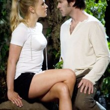 Anna Paquin e Stephen Moyer in una scena di True Blood