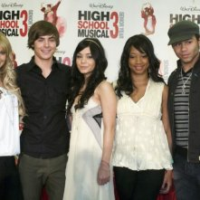 Ashley Tisdale, Zac Efron, Vanessa Anne Hudgens, Monique Coleman e Corbin Bleu alla conferenza stampa per l'inizio delle riprese di High School Musica 3: Senior Year