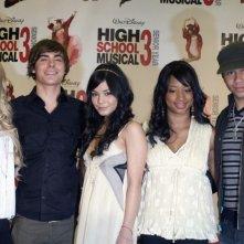 Ashley Tisdale, Zac Efron, Vanessa Anne Hudgens, Monique Coleman e Corbin Bleu alla conferenza stampa per l'inizio delle riprese di High School Musica 3: Senior Year tenutasi il 2 maggio 2008