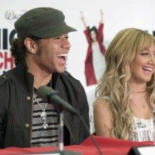 Corbin Belu e Ashley Tisdale alla conferenza stampa americana del 2 maggio 2008 per l'inizio delle riprese di High School Musica 3: Senior Year