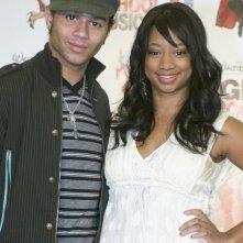 Corbin Bleu e Monique Coleman alla conferenza stampa del 2 maggio 2008 per l'inizio delle riprese di High School Musica 3: Senior Year