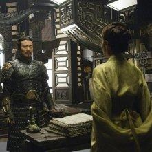 L'imperatore Jet Li in una scena del film La mummia 3