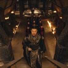 L'imperatore Jet Li in una sequenza del film La mummia 3