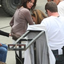 Lena Headey sul set della seconda stagione di Terminator: The Sarah Connor Chronicles