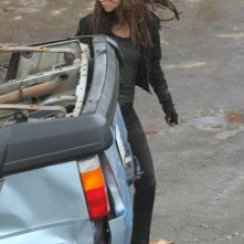 Summer Glau durante la lavorazione della seconda stagione di Terminator: The Sarah Connor Chronicles