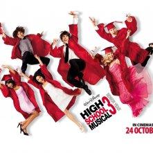Wallpaper di High School Musical 3 con il cast al completo