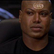 Christopher Judge nel ruolo del Jaffa Teal'c nella serie tv Stargate SG-1, episodio: Il pianeta dei vichinghi
