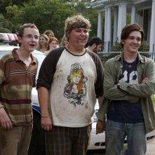 Drake Bell, Kevin Covais e Andrew Caldwell in una scena del film College
