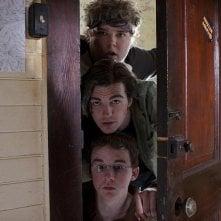 Kevin Covais, Drake Bell e Andrew Caldwell in una sequenza del film College