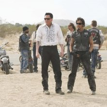 Michael Madsen e Larry Bishop in una scena di Hell Ride