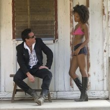 Michael Madsen in una sequenza di Hell Ride