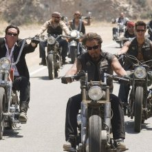 Michael Madsen, Larry Bishop e Eric Balfour in una scena di Hell Ride