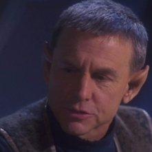 David Andrews nel ruolo di Lorian, figlio di Trip e T'Pol nell'episodio 'Un tuffo nel futuro' della terza stagione di Enterprise