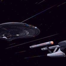 L'Enterprise e la Defiant solcano le rotte spaziali nell'episodio 'In uno specchio oscuro - seconda parte' della serie tv Enterprise