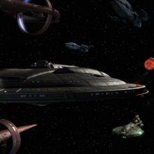 L'Enterprise insieme a navi Tellariane, Andoriane e Vulcaniane getta i primi germogli della futura Federazione nella serie tv Enteprise, episodio: Fragile alleanza