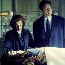 David Duchovny e Gillian Anderson in X-Files