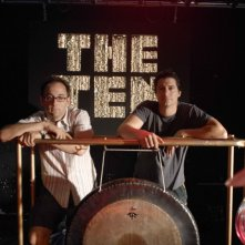 Il regista David Wain e Ken Marino sul set del film The Ten