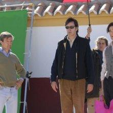 Il regista Menno Meyjes e Adrien Brody sul set di Manolete - Fra mito e passione