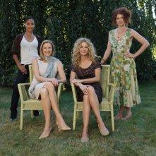Jada Pinkett Smith, Annette Bening, Meg Ryan e Debra Messing sul set del film The Women