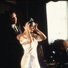 Jouko Ahola e Anna Gourari in una scena del film Invincibile