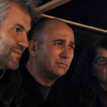 Il produttore Domenico Procacci e il regista Ferzan Ozpetek sul set del film Un giorno perfetto
