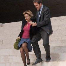 Isabella Ferrari e Valerio Mastandrea in una scena del film Un giorno perfetto