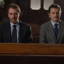Valerio Mastandrea e Valerio Binasco in una scena del film Un giorno perfetto